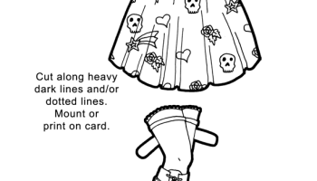 A Rockabilly Inspired Paper Doll Coloring Page