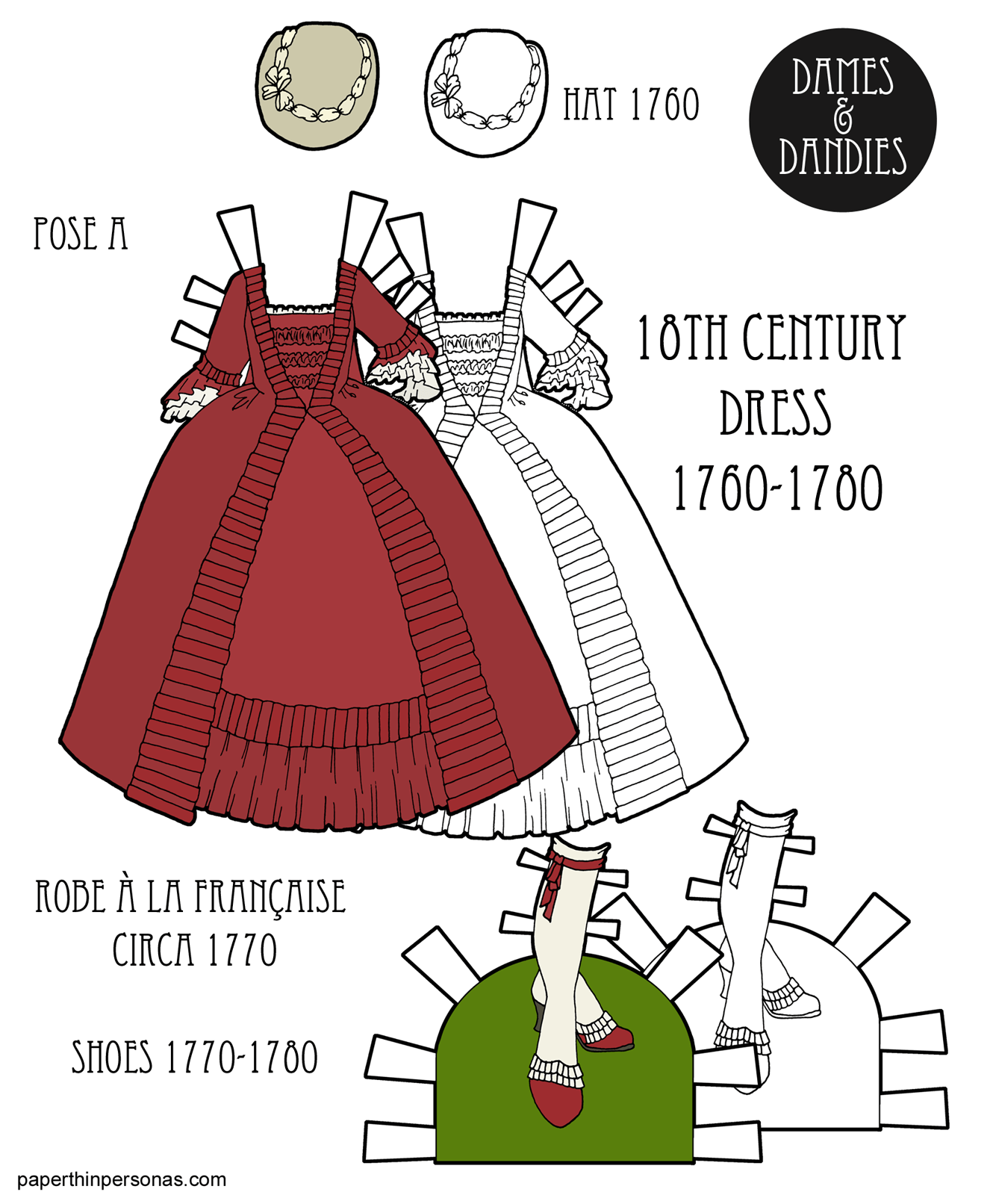 615f6174298 An 18th Century Paper Doll Dress Based on a Robe à la Française from 1770
