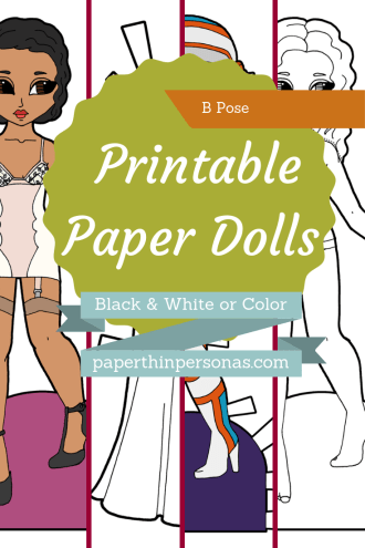 Dozens of different paper dolls designs to print in color or black and white. Choose between vintage, fantasy or sci-fi, your paper dolls can be almost anything.