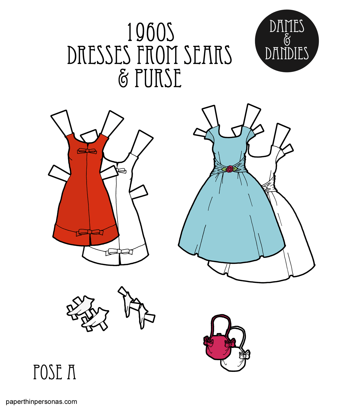 1960s Paper Doll Dresses From the Pages of Sears Catalogs