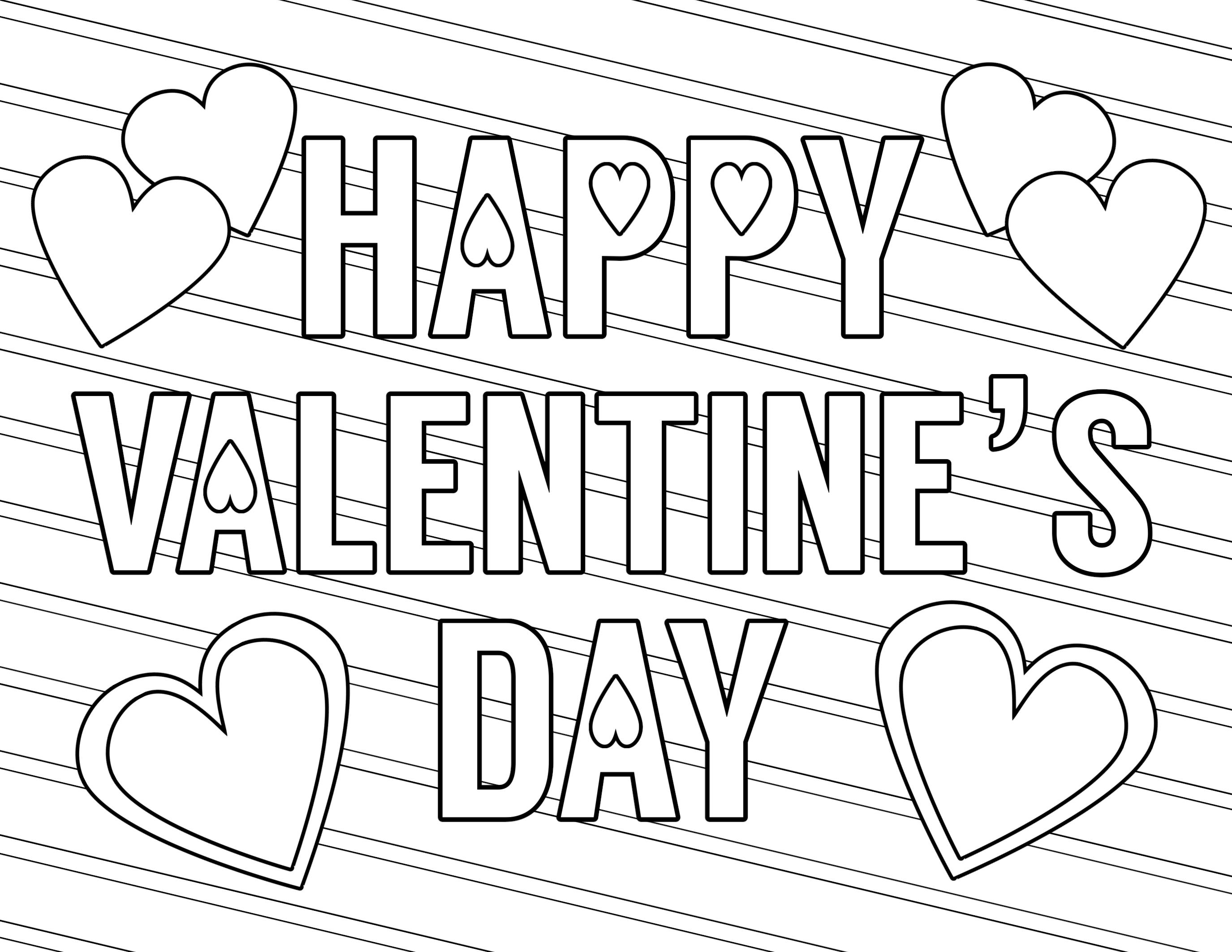 Printable Coloring Pages Valentines Novocom Top