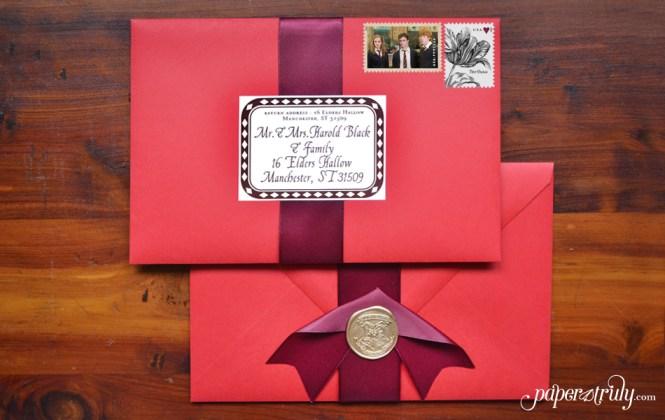 This Harry Potter Wedding Invitation