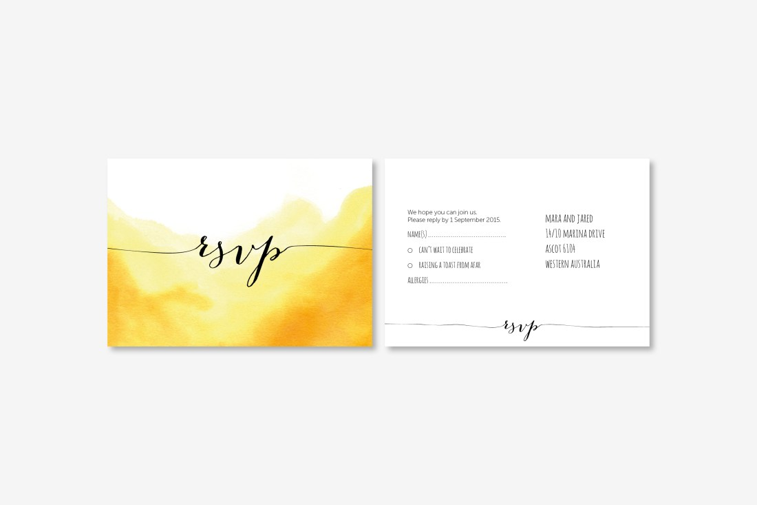 watercolour wedding RSVP