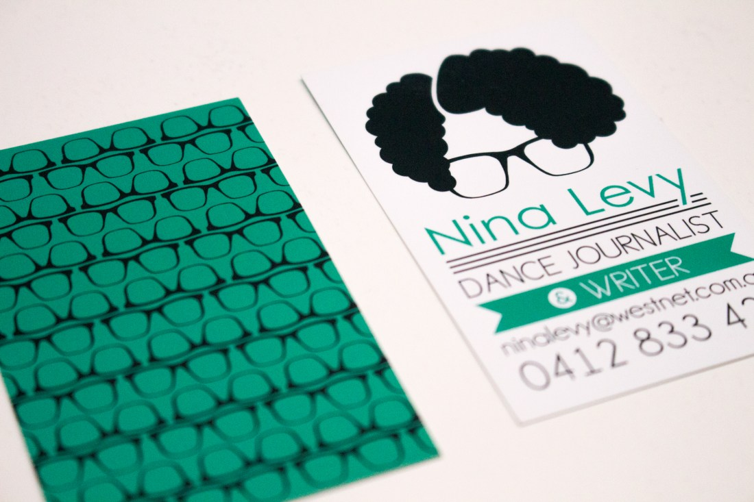 personal logo featured on the business card