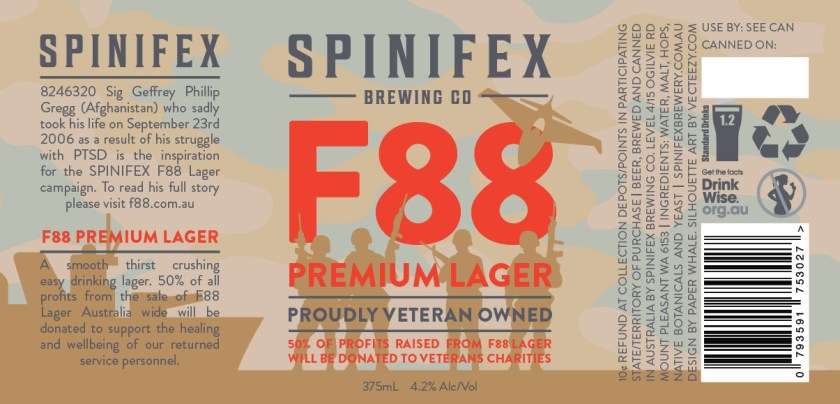 Spinifex Brewing Co F88 Can Label Design