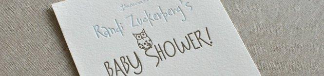 Randi Zuckerberg S Custom Letterpress Baby Shower Invitation