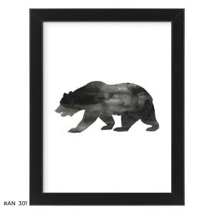 Plakat niedźwiedź – #AN301