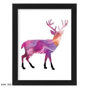 Plakat kolorowy jeleń – #AN303