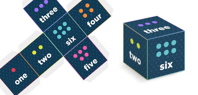 Numbered Word Dice