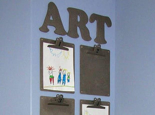 clipboard classroom display