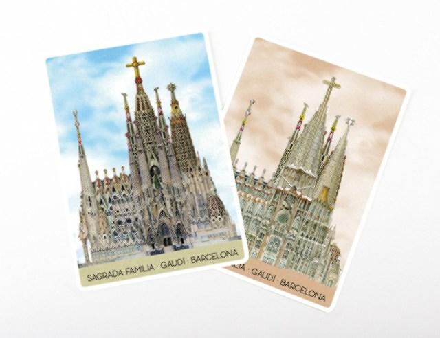 "Lenticular or 3D ""Magic"" postcard"