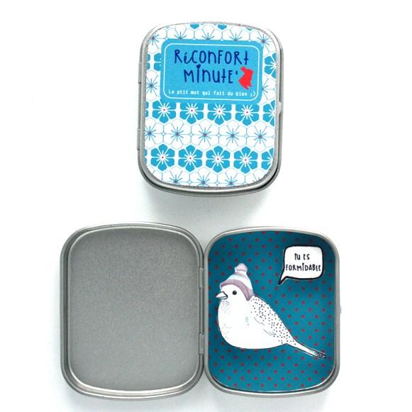 Boite-réconfort-minute-oiseau-tu-es-formidable-turquoise
