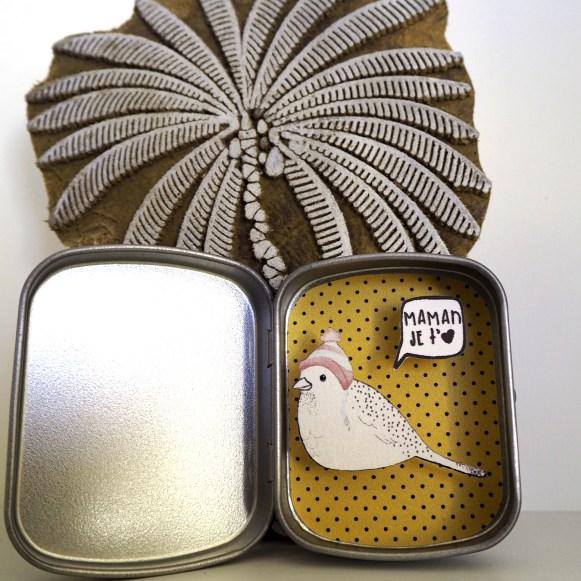 boite reconfort oiseau maman jetaime - Boite Réconfort Minute Oiseau