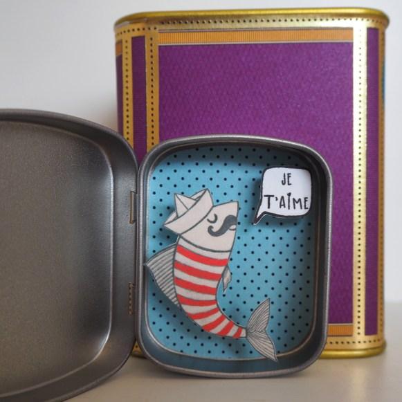 boite reconfort sardine jetaime - Boite Réconfort Minute Sardine Je T'aime