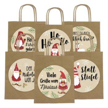 XXL Geschenktüte zum Nikolaus - Wichtel - Papierdrachen