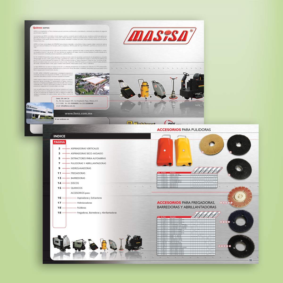 diseño de catálogo de productos Masisa