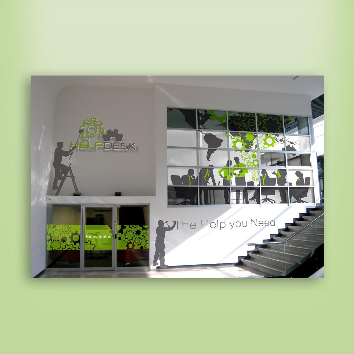 diseño de fachada frontal Helpdesk