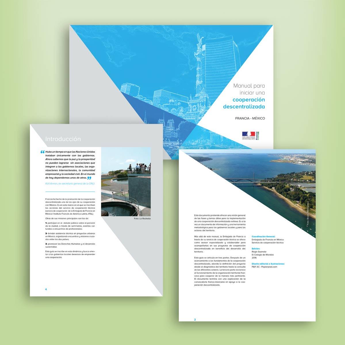 diseño gráfico de folleto