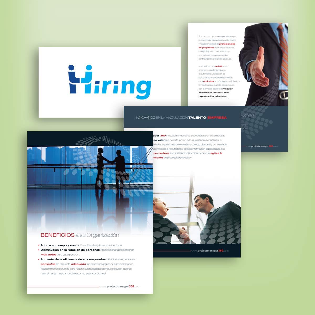 diseño de folleto Hiring