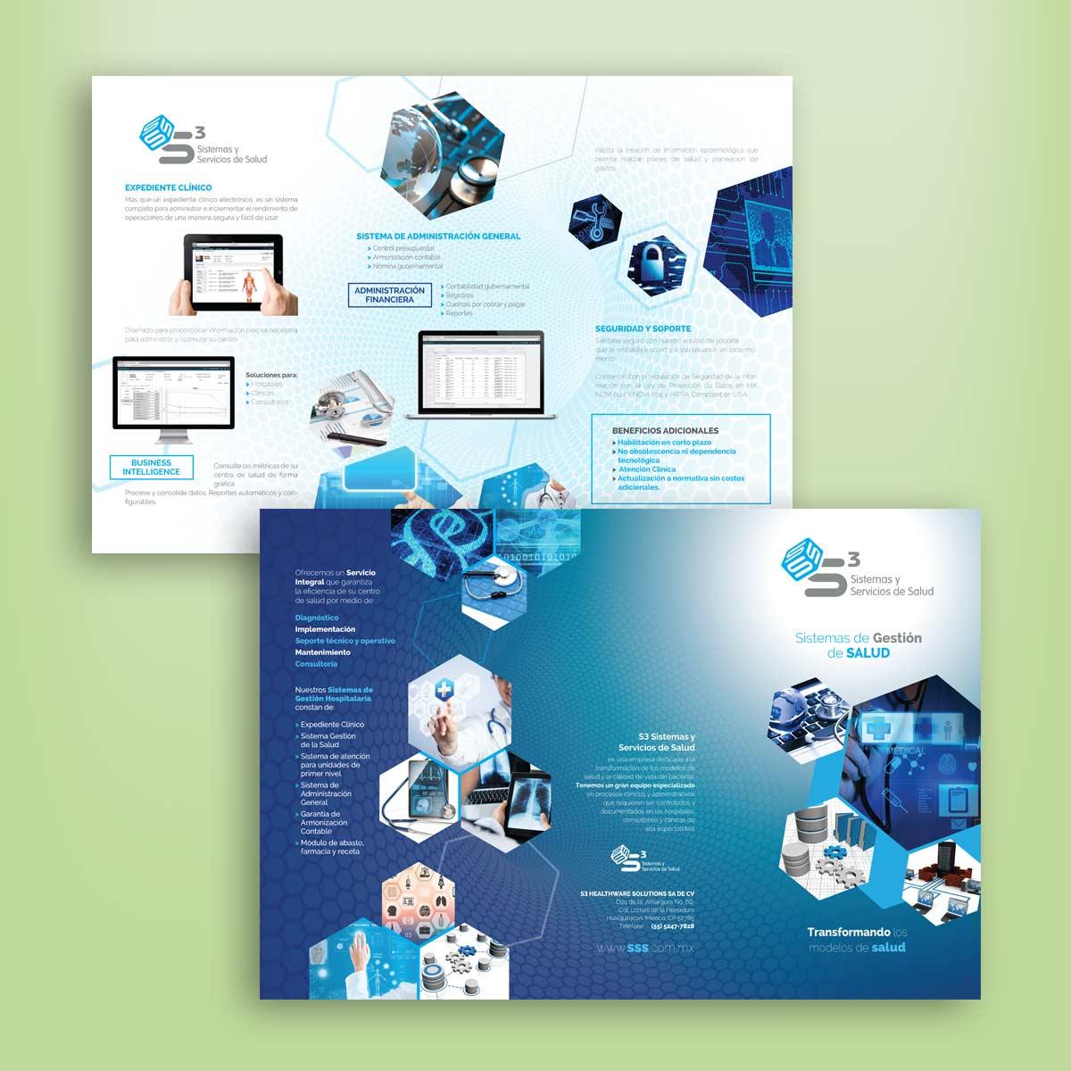 diseño de tríptico comercial S3