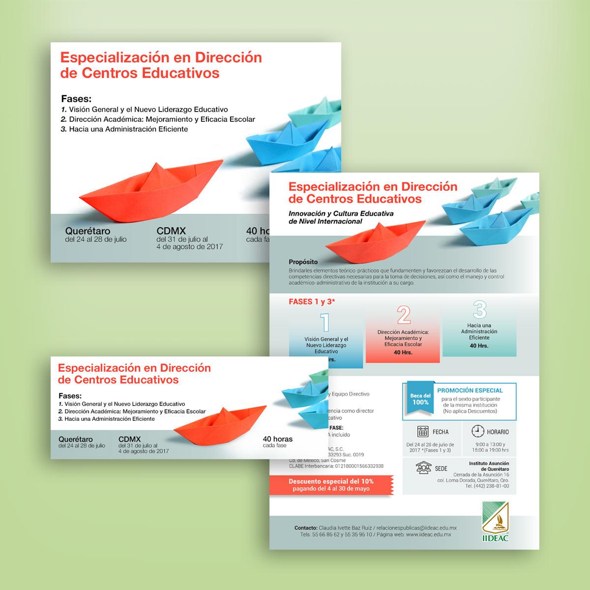 diseño de material publicitario IIDEAC