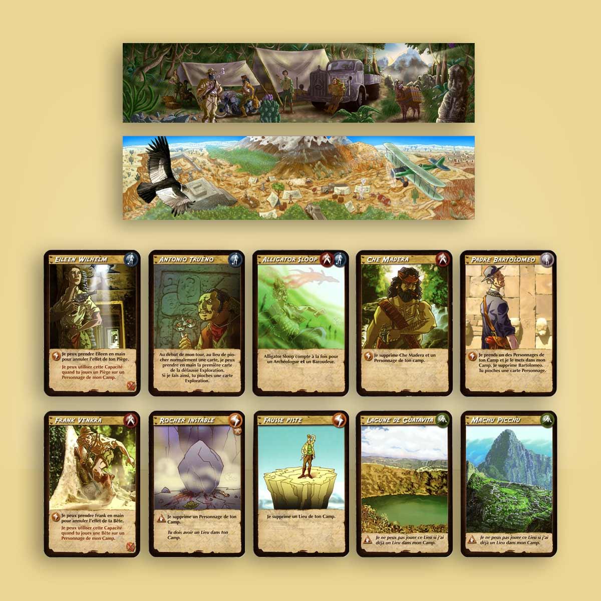 ilustración para juego de mesa Altiplano