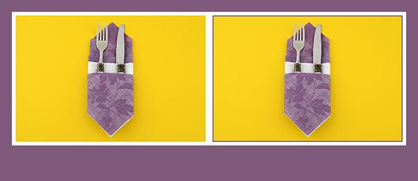 servietten falten bestecktasche schnell einfach. Black Bedroom Furniture Sets. Home Design Ideas