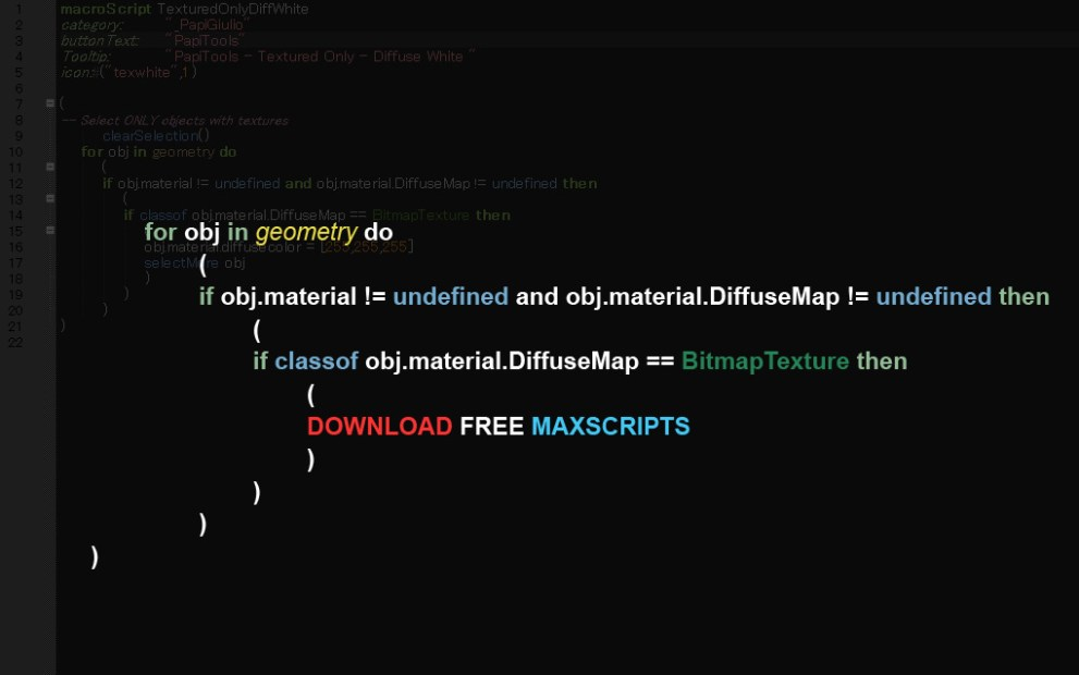 Various FREE Maxscripts part 1