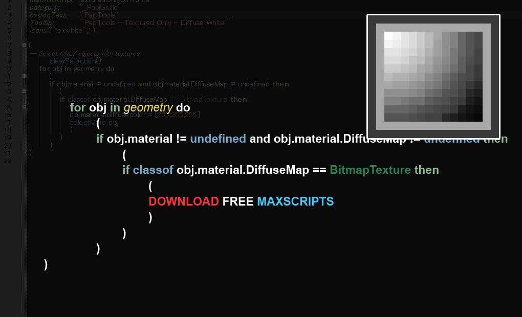 Free maxscript BGColor