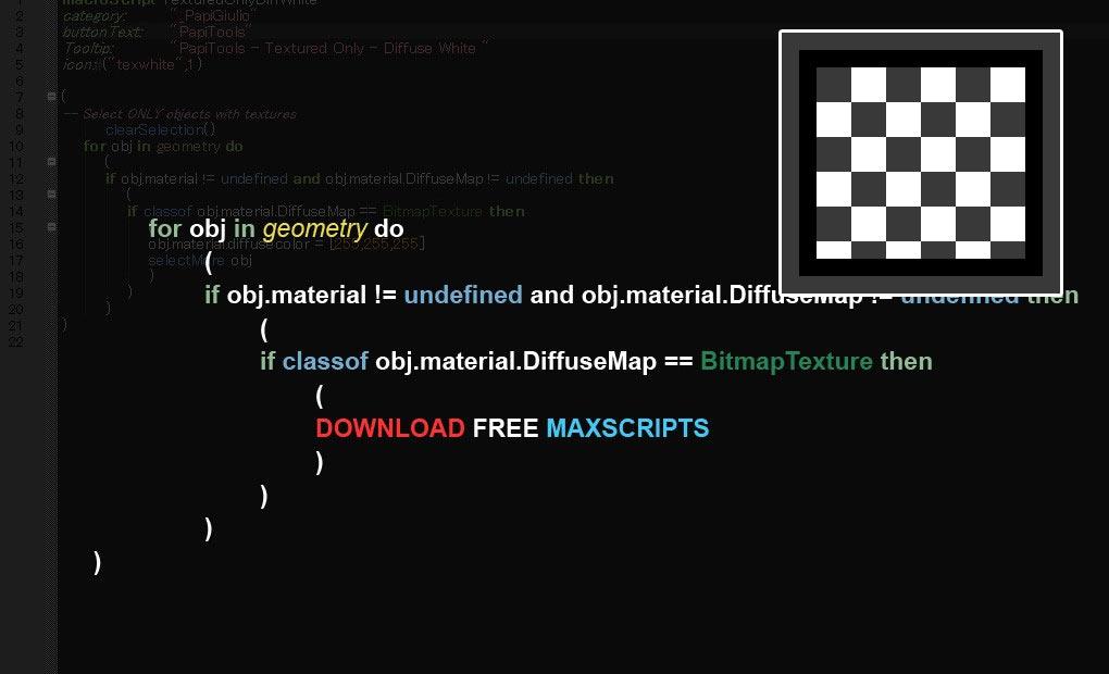 Free maxscript UVWSquare