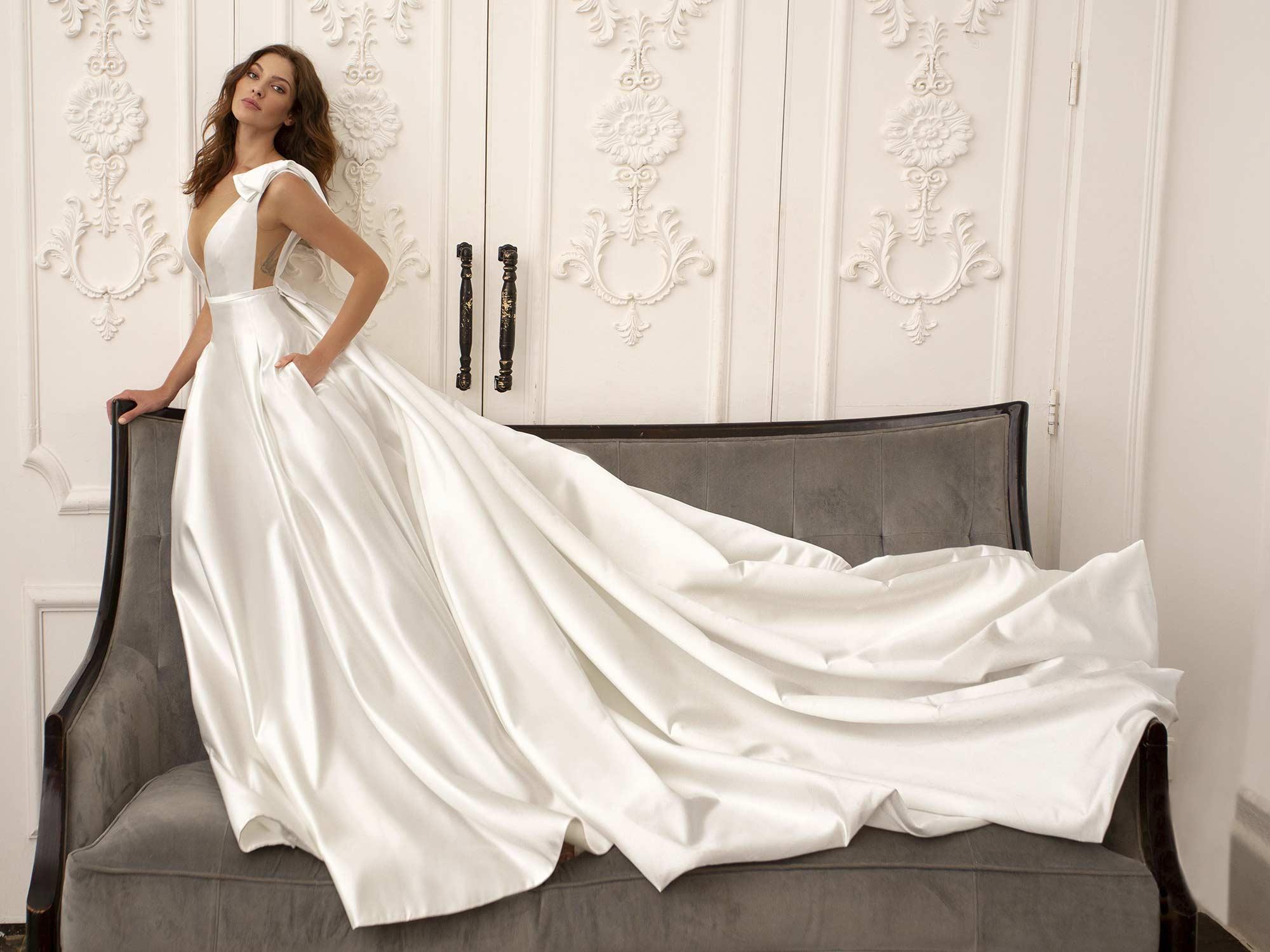 Trending Silk Mikado Wedding Dresses