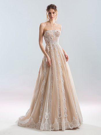Strapless A-line wedding dress