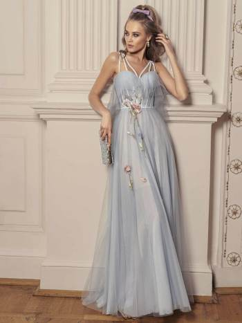 maxi dress with bustier bodice