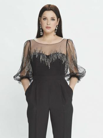 jumpsuit with bishop sleeves