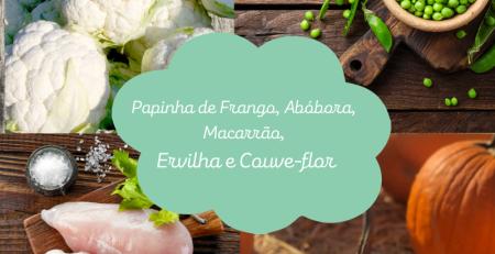 Papinha de Frango, Abóbora, Ervilha e Couve-Flor