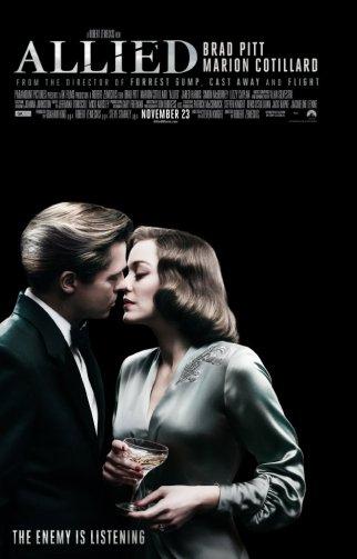 Ο Brad Pitt και η Marion Cotillard στο Allied (2016)
