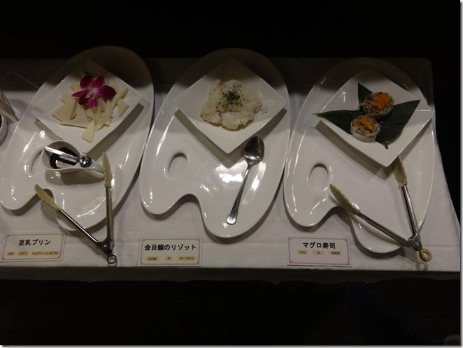 豆乳プリンと金目鯛のリゾットとマグロ寿司
