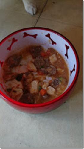 牛肉とマグロのラタテュイユスープ