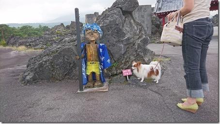 北軽井沢でペットと観光できる鬼押出し園遊歩そばの青鬼のおに吉