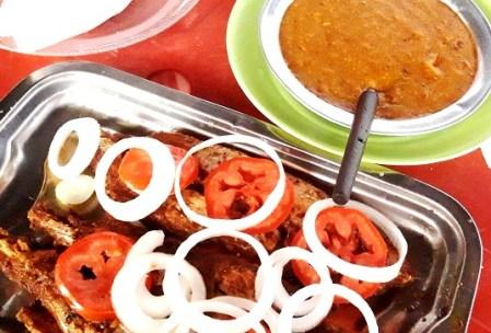 peixe frito no bar de pernambuco