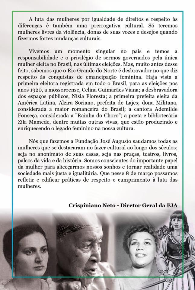 cac1eca9e47be Redação8 de março de 2019Opinião