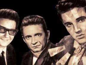 Orbison, Johnny Cash e Elvis Presley