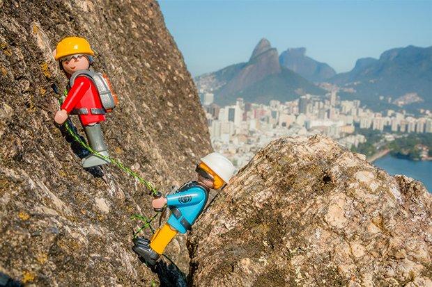 Escalada no Morro do Cantagalo