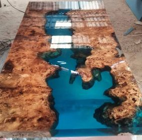 Amazing Resin Wood Table For Your Home Furniture 12