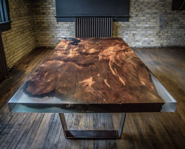 Amazing Resin Wood Table For Your Home Furniture 25