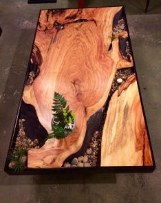 Amazing Resin Wood Table For Your Home Furniture 41