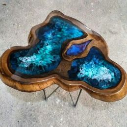 Amazing Resin Wood Table For Your Home Furniture 49