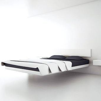 Cool Floating Bed Design Ideas 26