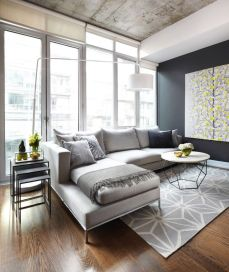 Awesome Modern Apartment Living Room Design Ideas 43