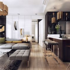 Awesome Modern Apartment Living Room Design Ideas 48
